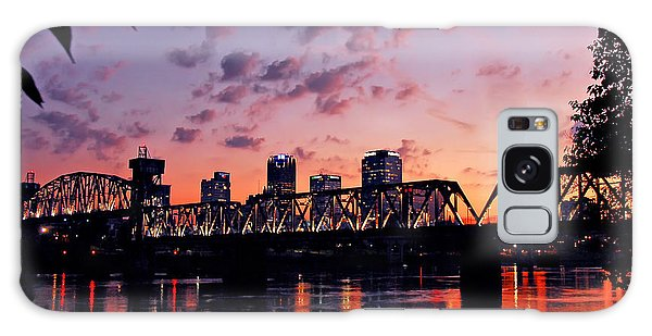 Little Rock Bridge Sunset Galaxy Case