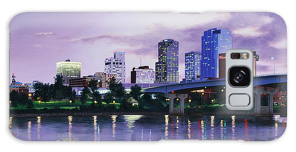 Little Rock Skyline Galaxy Case