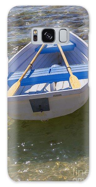Little Rowboat Galaxy Case by Verena Matthew