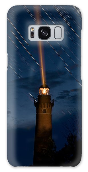 Lighthouse Galaxy Case - Little Sable Lighthouse by Steve Gadomski