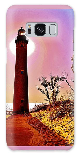 Little Sable Point Lighthouse Galaxy Case