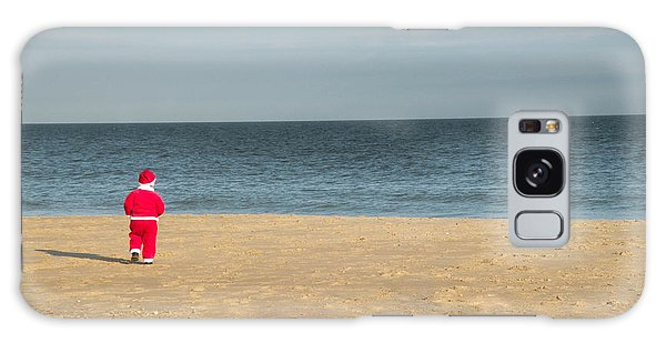 Little Santa On The Beach Galaxy Case