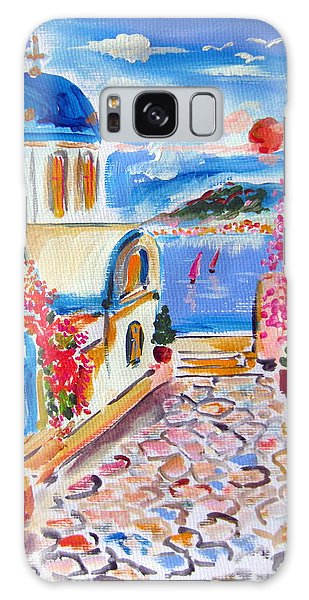 Little Santorini Alley Galaxy Case by Roberto Gagliardi