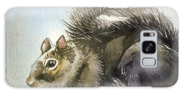Little Squirrel Watercolor Galaxy Case