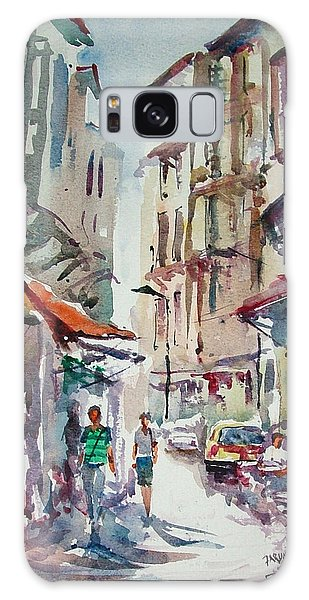 Little Trip At Exotic Streets In Istanbul Galaxy Case by Faruk Koksal