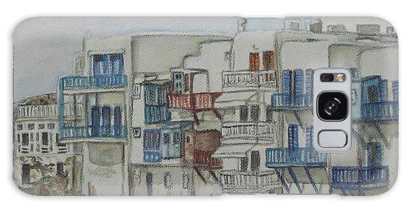 Little Venice Mykonos Greece Galaxy Case by Malinda  Prudhomme