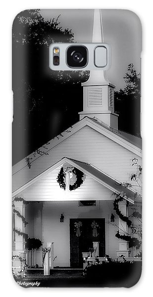 Little White Church Bw Galaxy Case