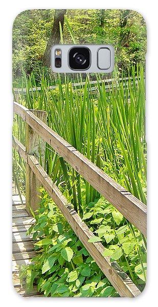 Little Wooden Walking Bridge Galaxy Case by Jean Goodwin Brooks