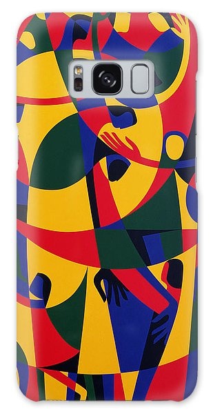 Abstract People Galaxy Case - Live Adventurously by Ron Waddams