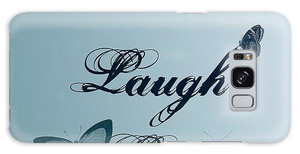 Live Laugh Love Butterflies Galaxy Case by P S
