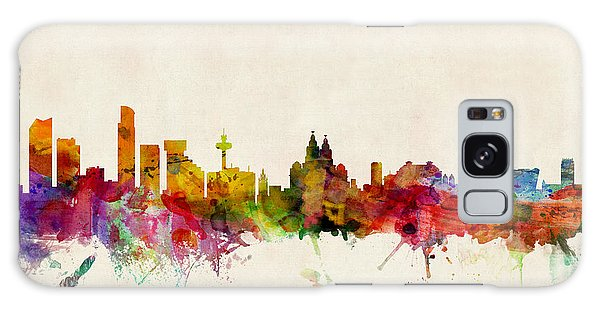 England Galaxy Case - Liverpool England Skyline by Michael Tompsett