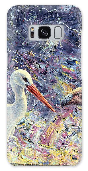 Living Between Beaks Galaxy Case by James W Johnson