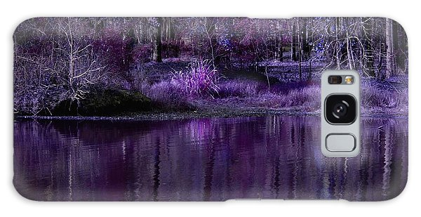 Living In A Purple Dream Galaxy Case by Linda Unger