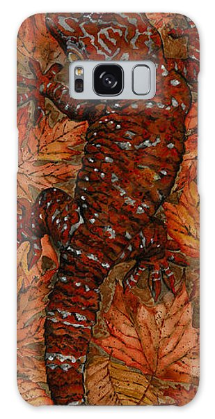 Lizard In Red Nature - Elena Yakubovich Galaxy Case by Elena Yakubovich