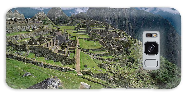 Llama At Machu Picchus Ancient Ruins Galaxy Case