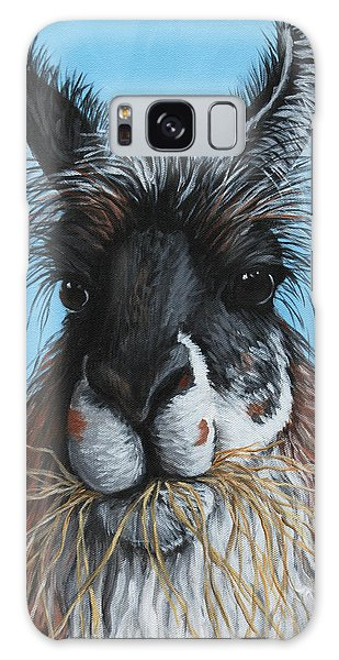 Llama Portrait Galaxy Case by Penny Birch-Williams