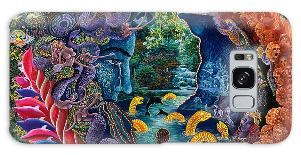 Galaxy Case featuring the painting Llullon Llaki Supai by Pablo Amaringo