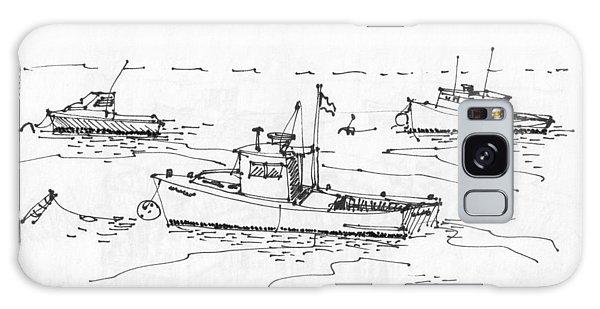 Lobster Boats Monhegan Island 1993 Galaxy Case