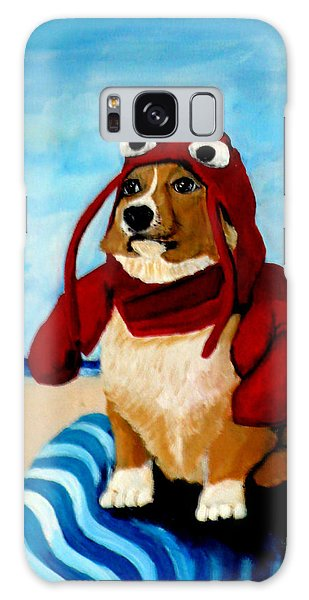 Lobster Corgi On The Beach Galaxy Case