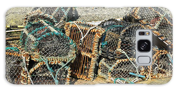 Lobster Pots Galaxy Case by Jane McIlroy
