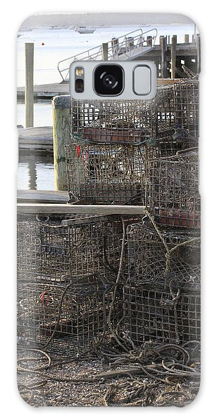 Lobster Pots Northport New York Galaxy Case