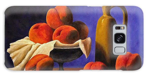 Local Peaches Oil Painting Galaxy Case