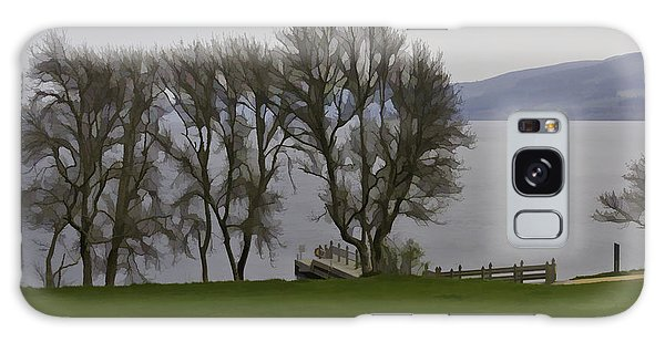 Loch Ness And Boat Jetty Next To Urquhart Castle Galaxy Case