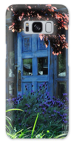 Locked Blue Door  Galaxy Case
