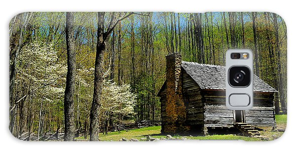 Log Cabin In The Smoky Mountain National Park Galaxy Case