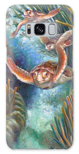 Loggerhead Sea Journey IIi Galaxy Case by Nancy Tilles