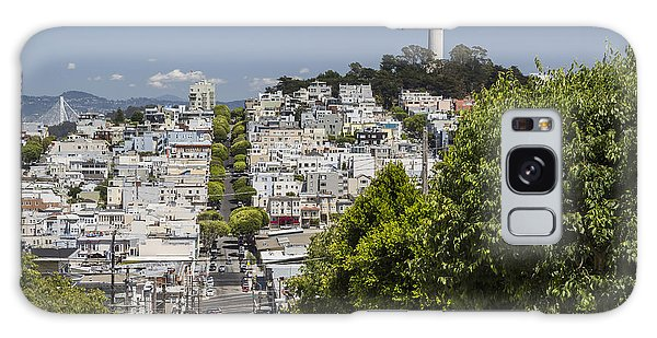 West Bay Galaxy Case - Lombard Street And Coit Tower On Telegraph Hill by Adam Romanowicz