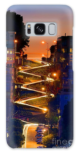 Lombard Street Depth Into The Darkness Of Light Galaxy Case by Wernher Krutein