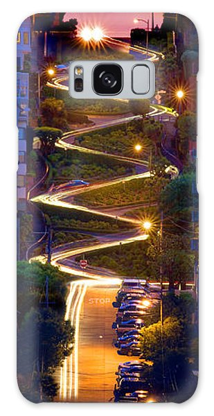 Lombard Street In The Evening San Francisco Galaxy Case by Wernher Krutein
