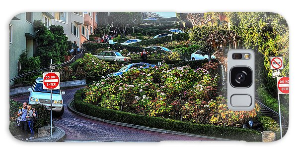 Lombard Street  Galaxy Case by Kevin Ashley