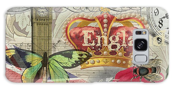 London England Vintage Travel Collage  Galaxy Case