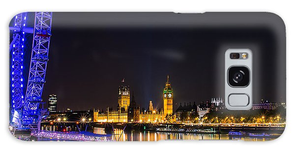 London Eye And  Big Ben Galaxy Case by Fiona Messenger