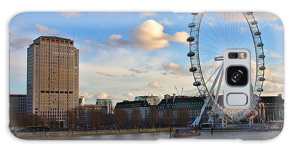 London Eye And Shell Building Galaxy Case