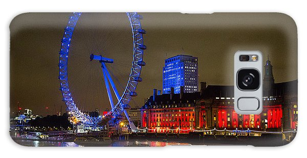 London Eye At Night Galaxy Case