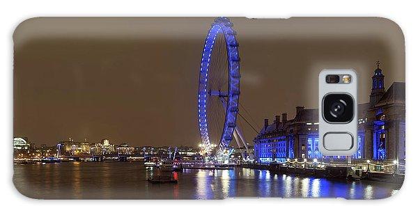 London Eye Galaxy Case - London Eye At Night by Daniel Sambraus/science Photo Library