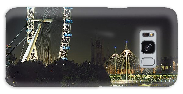 Houses Of Parliament Galaxy Case - London Eye by Mark Thomas/science Photo Library