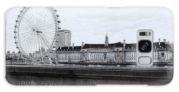 London Eye Galaxy Case - London Eye Mono by Jasna Buncic