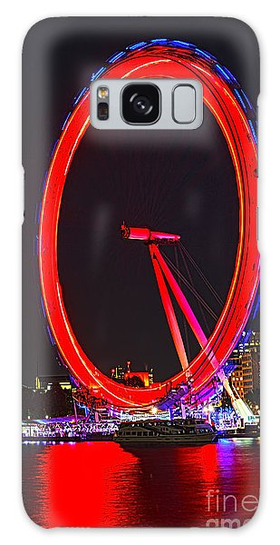 London Eye Galaxy Case - London Eye Red by Jasna Buncic