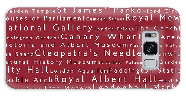 London In Words Red Galaxy Case by Sabine Jacobs
