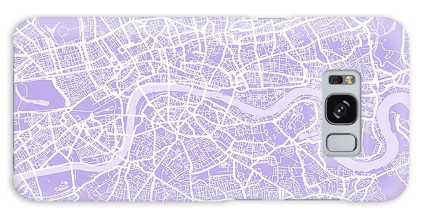 England Galaxy Case - London Map Lilac by Michael Tompsett
