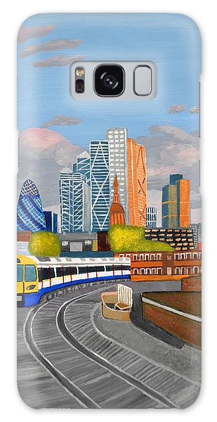 London Overland Train-hoxton Station Galaxy Case by Magdalena Frohnsdorff