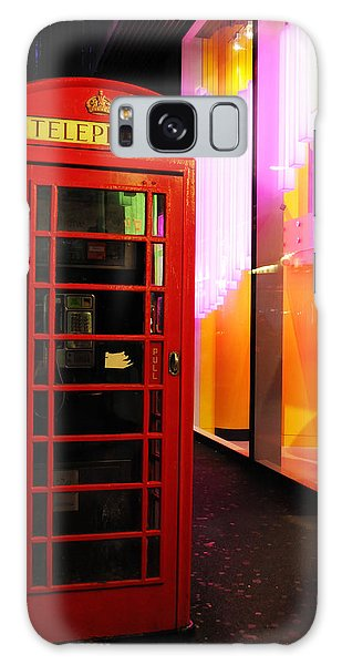 London Red Phone Booth Galaxy Case by Haleh Mahbod