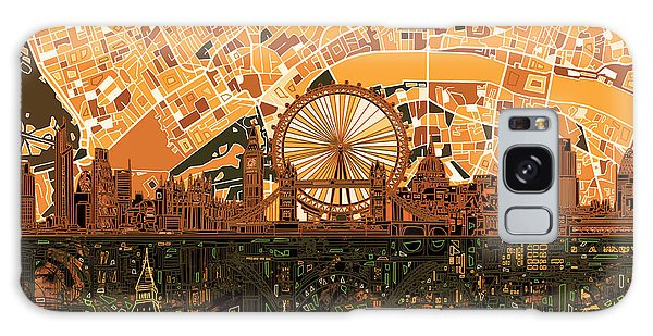 London Skyline Abstract 7 Galaxy Case by Bekim Art