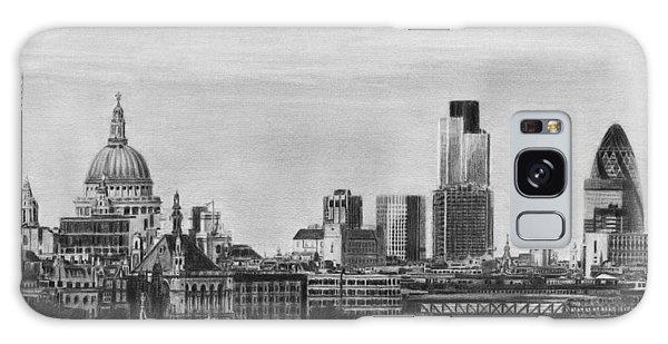 London Skyline Pencil Drawing Galaxy Case