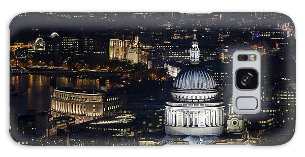 London St Pauls At Night Colour Galaxy Case