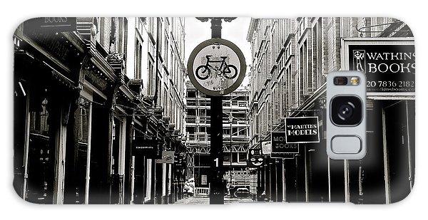 London Street - Monochrome Galaxy Case by David Warrington
